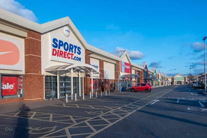 Sports Direct and Home Bargains, Riverside Retail Park, Warrington