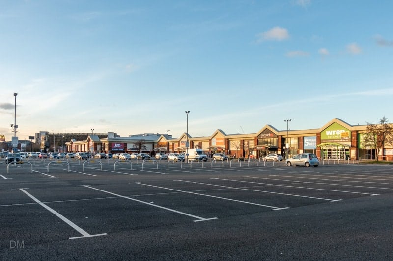 Car park at Riverside Retail Park