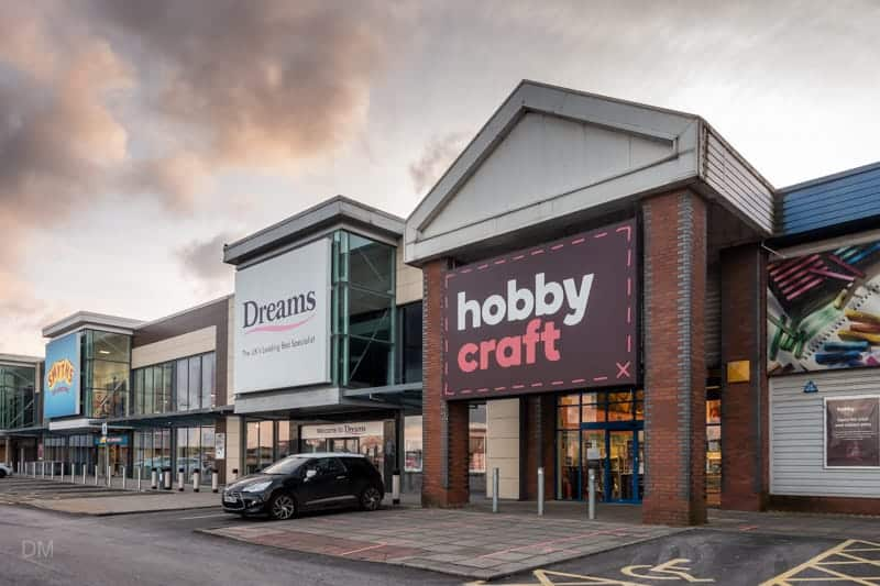 Dreams and Hobbycraft, Junction Nine Retail Park, Warrington