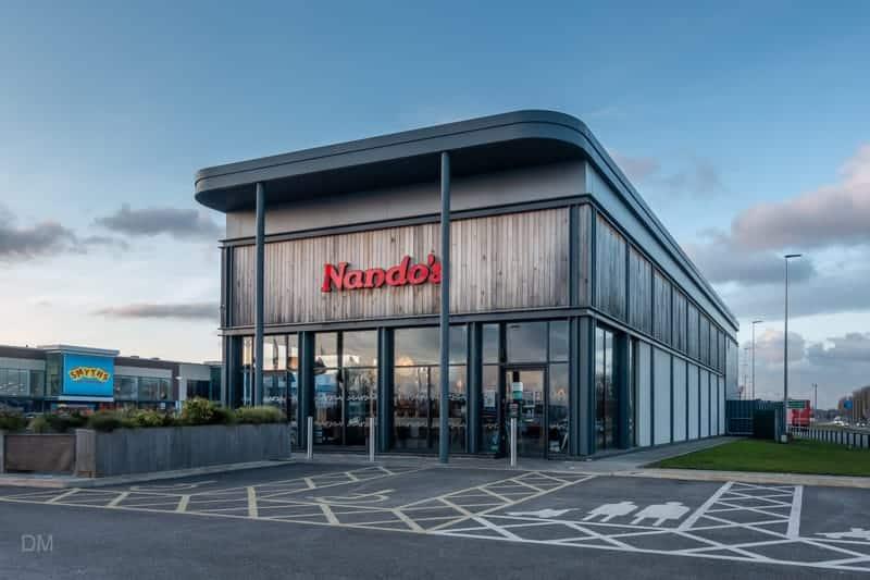Nando's restaurant at Junction Nine Retail Park, Warrington
