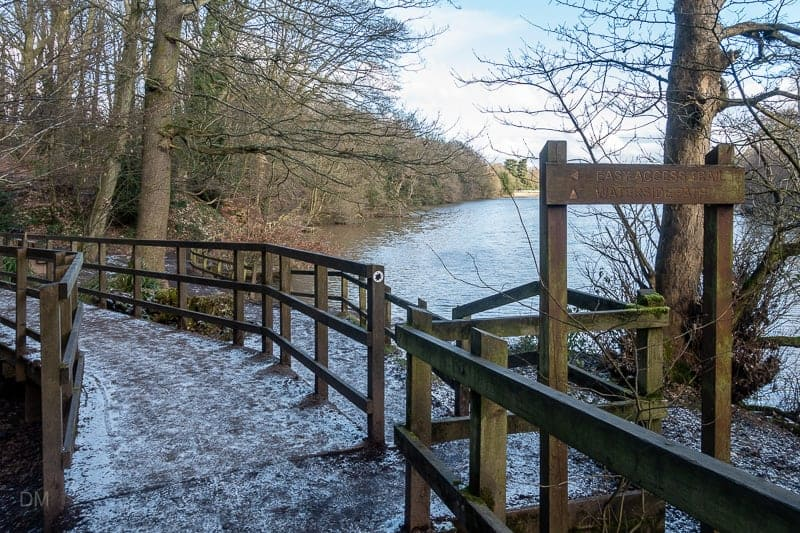 Waterside walking path, Lymm Dam