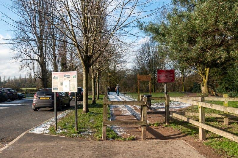 Entrance to Lymm Dam park
