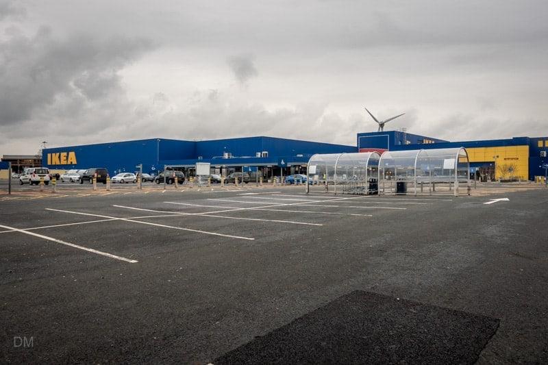 IKEA car park, Warrington