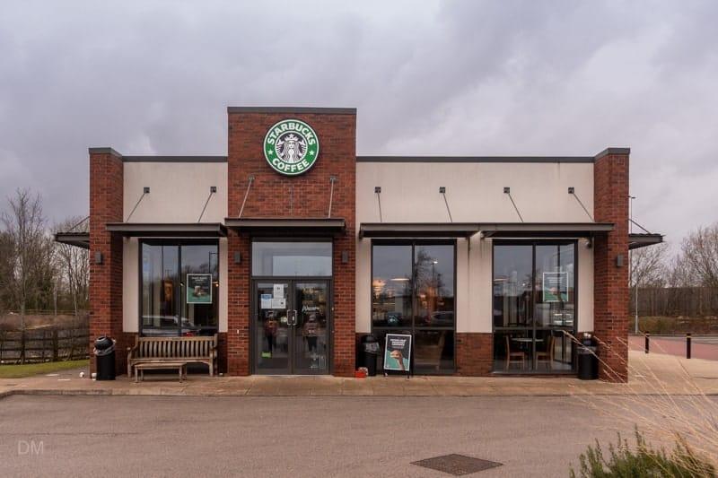 Starbucks coffee shop at Apollo Park in Warrington