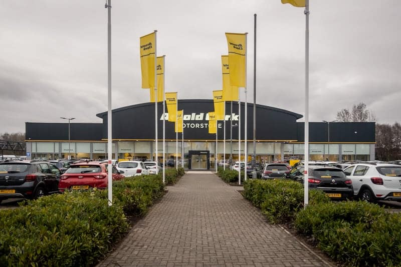 Arnold Clark car store at Gemini Retail Park, Warrington