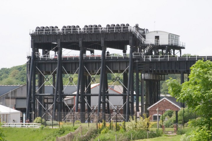 Anderton Boat Lift near Northwich in Cheshire