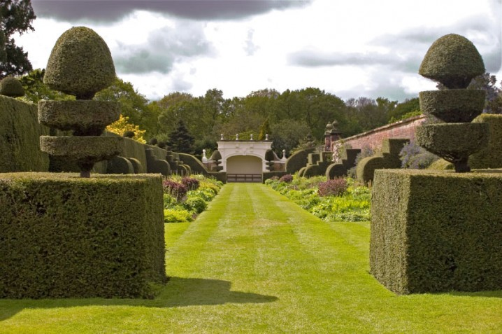 View of the gardens at Arley Hall near Northwich, Cheshire