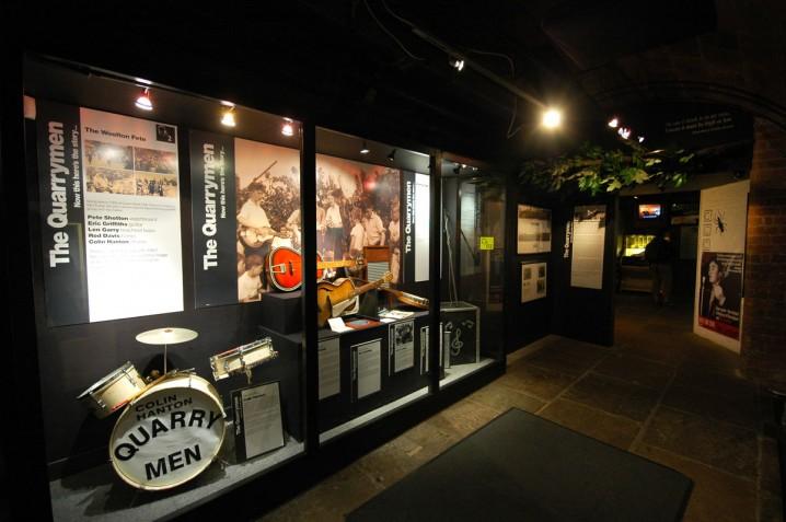 The Quarrymen exhibit at the Beatles Story museum, Albert Dock, Liverpool