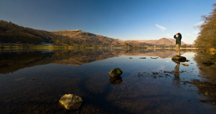 View of Grasmere, a lake in the English Lake District