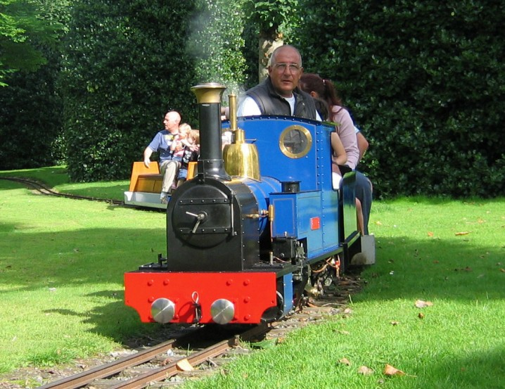 Narrow guage railway in Grosvenor Park in Chester, England