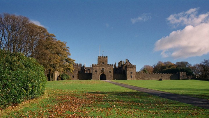 Hoghton Tower, a historic manor house near Preston and Blackburn in Lancashire