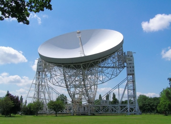 View of the Lovell Radio Telescope at Jodrell Bank