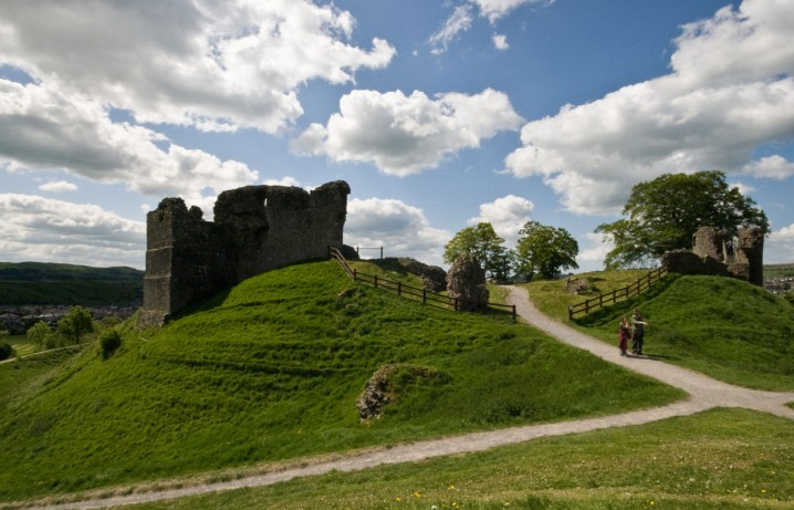 View of Kendal Castle and grounds in Kendal, Cumbria
