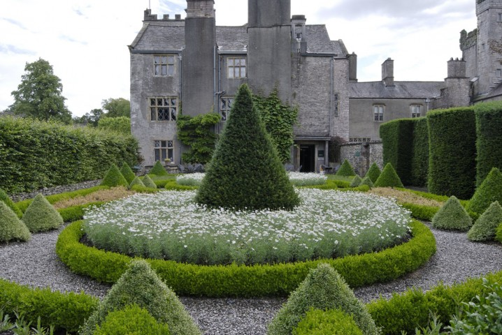 View of the topiary gardens at Levens Hall
