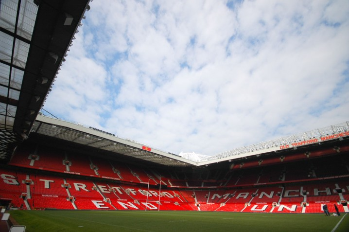 View of the Stretford End at Old Trafford, the stadium of Manchester United FC