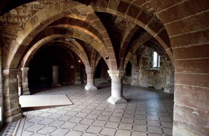 Vaults and arches at Norton Priory
