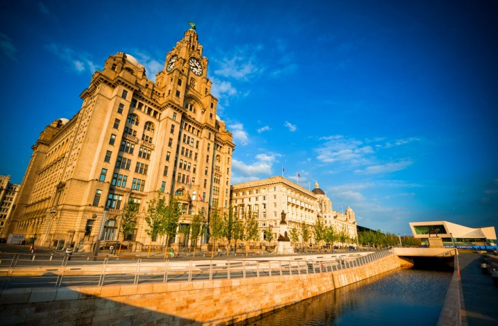 Pier Head Liverpool - the Three Graces, Leeds and Liverpool Canal, and the Museum of Liverpool