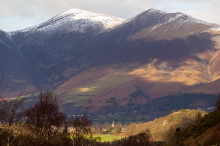 View of Skiddaw and Keswick in the Lake District, England
