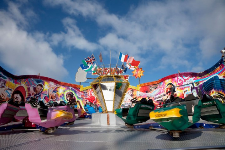 The waltzer ride at the South Pier in Blackpool