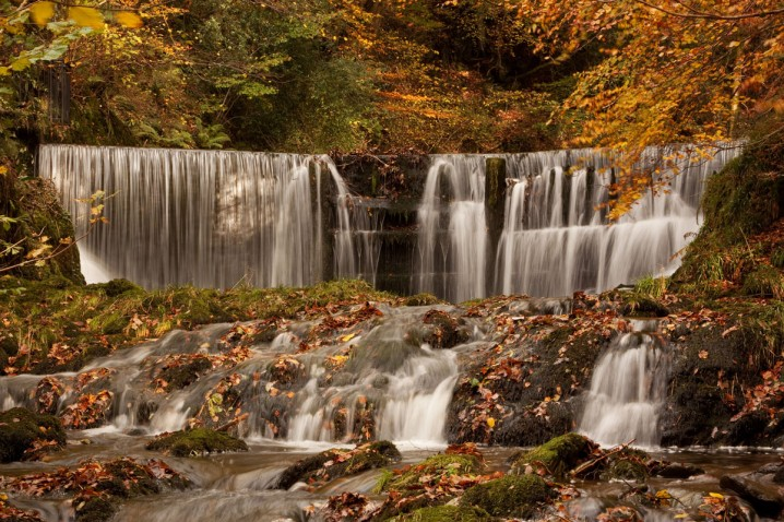 Stock Ghyll Force waterfall in Ambleside, the Lake District, England