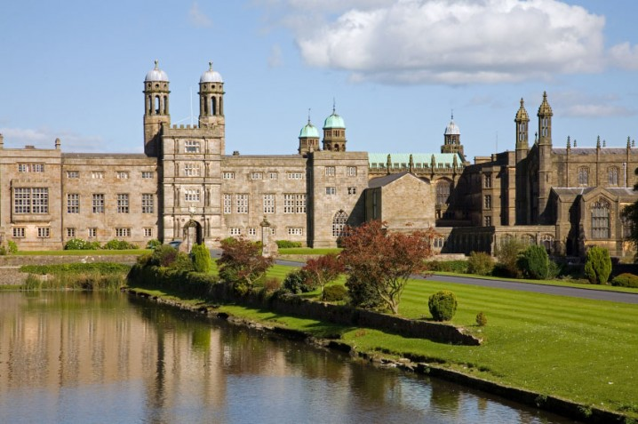 View of the Stonyhurst College public school in the Ribble Valley