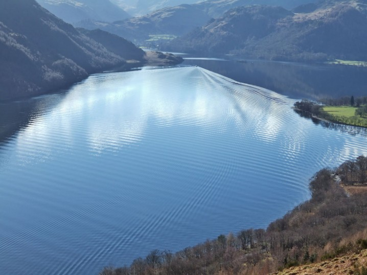 View of Ullswater in the English Lake District