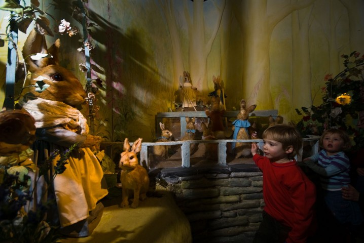 Child at the World of Beatrix Potter attraction in Bowness, Windermere